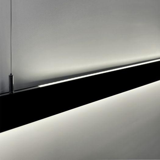 Светильник линейный Maxus assistance Line Slim Pro 40W 80Ra 4000 1200mm 140B UpDown IP20 Black linkable